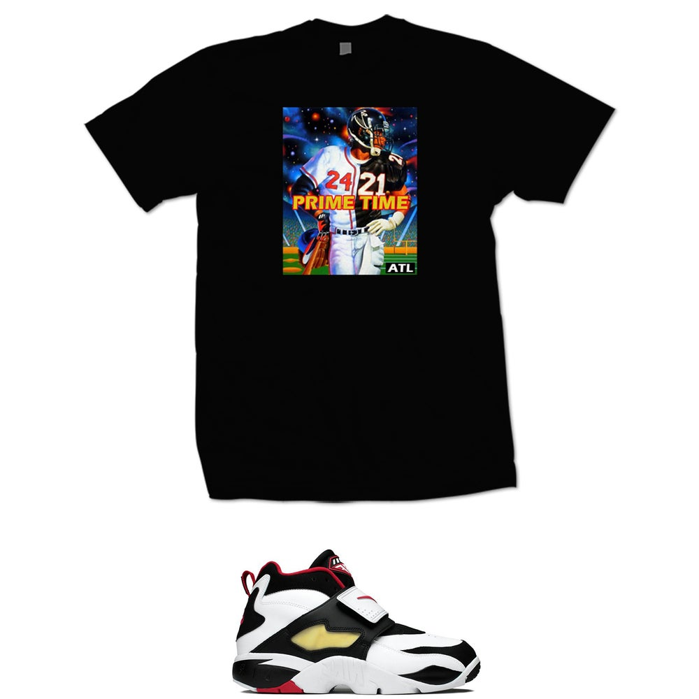 finest selection 66690 a4c97 DEION SANDERS FALCONS BRAVES PRIME TIME T SHIRT - BLACK