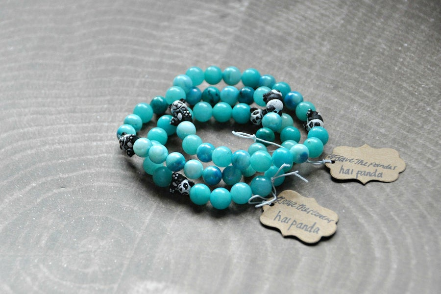 Image of Amazonite Panda Bracelet