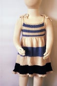 Image of Whisperweight Pinafore - a modern frock for Spring - Cream & Lilac