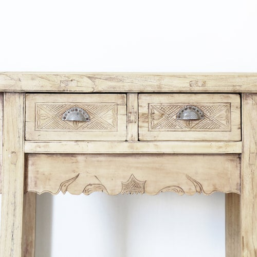 Image of Lyra Carved Console Table