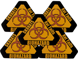 Image of SK8RATS Biohazard Rat Tails Sticker Pack 5