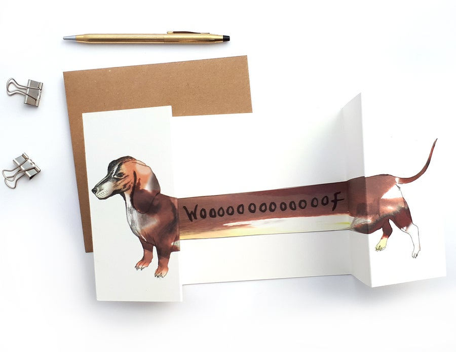 Image of Sausage Dog Panorama Card
