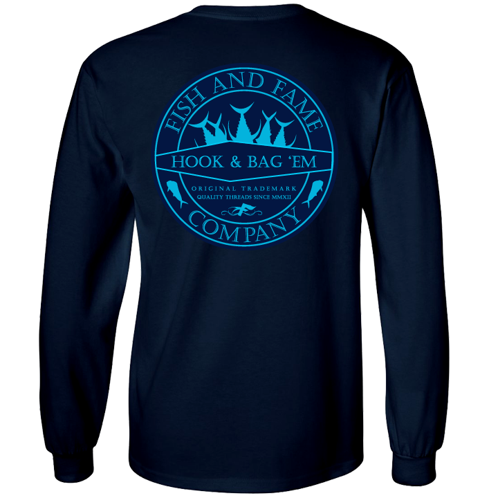 Image of Hook & Bag Em' Long Sleeve (navy)