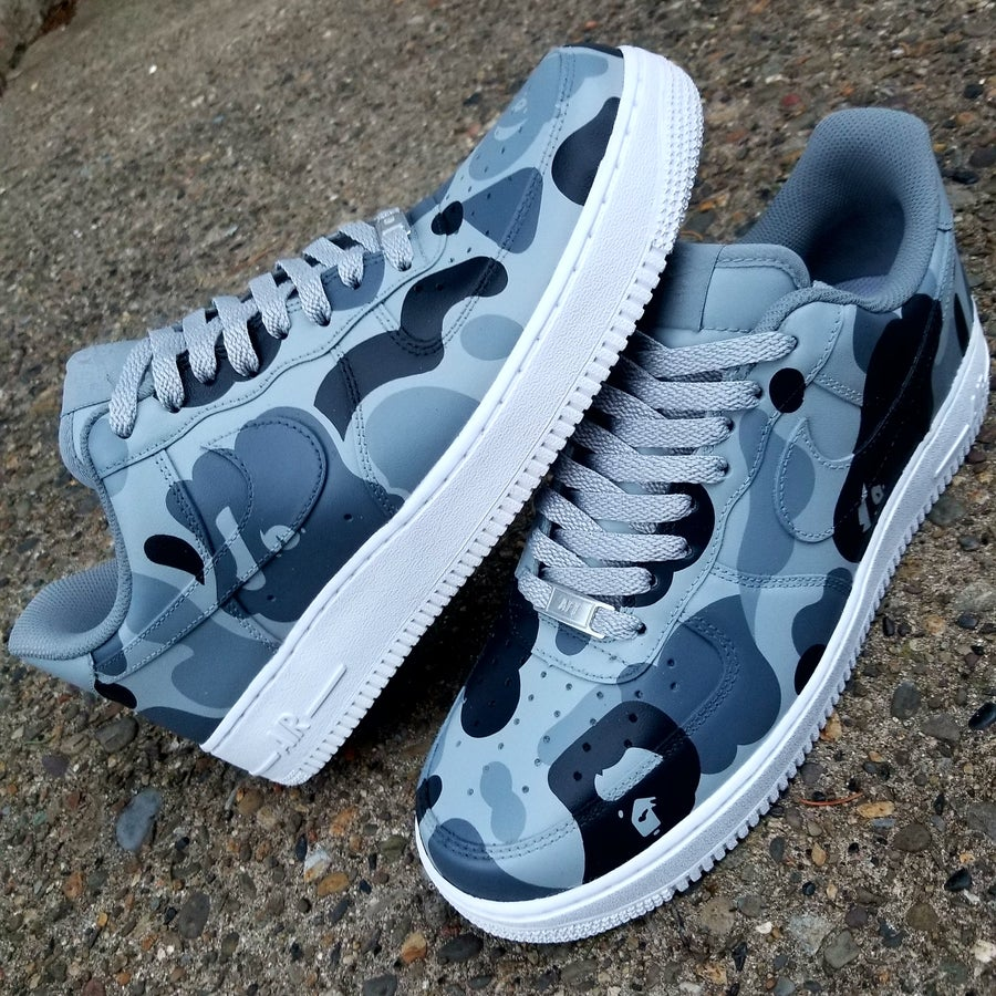 """Image of AF1 """"Shades of Gray"""" Lows"""