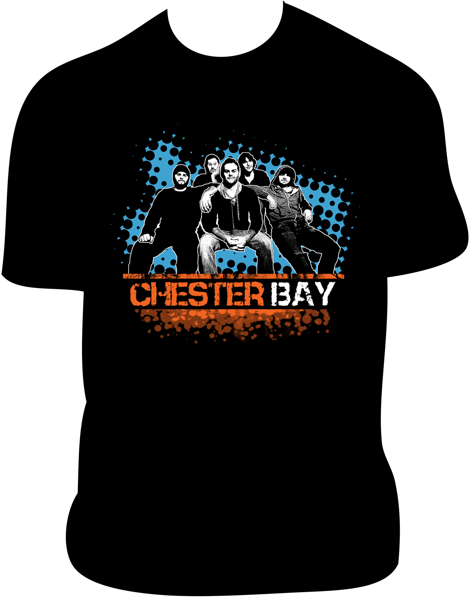 Image of Chester Bay Full Band T-Shirt BLACK