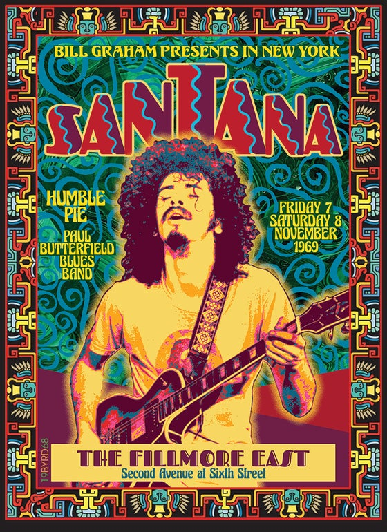 Image of SANTANA at the FILLMORE EAST 1969