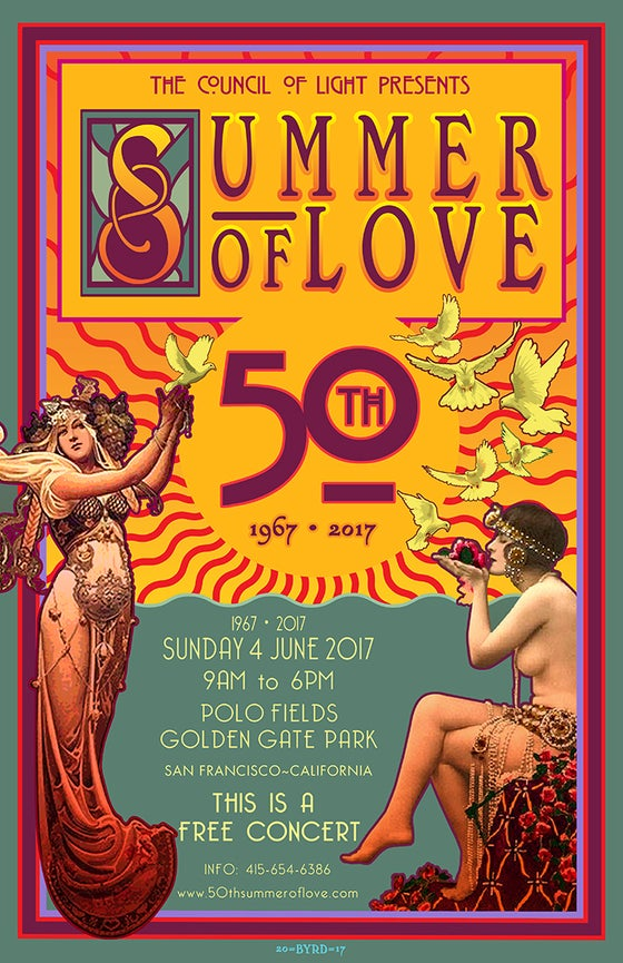 Image of 50th ANNIVERSARY of the SUMMER OF LOVE • JUNE 2017 • Version 1