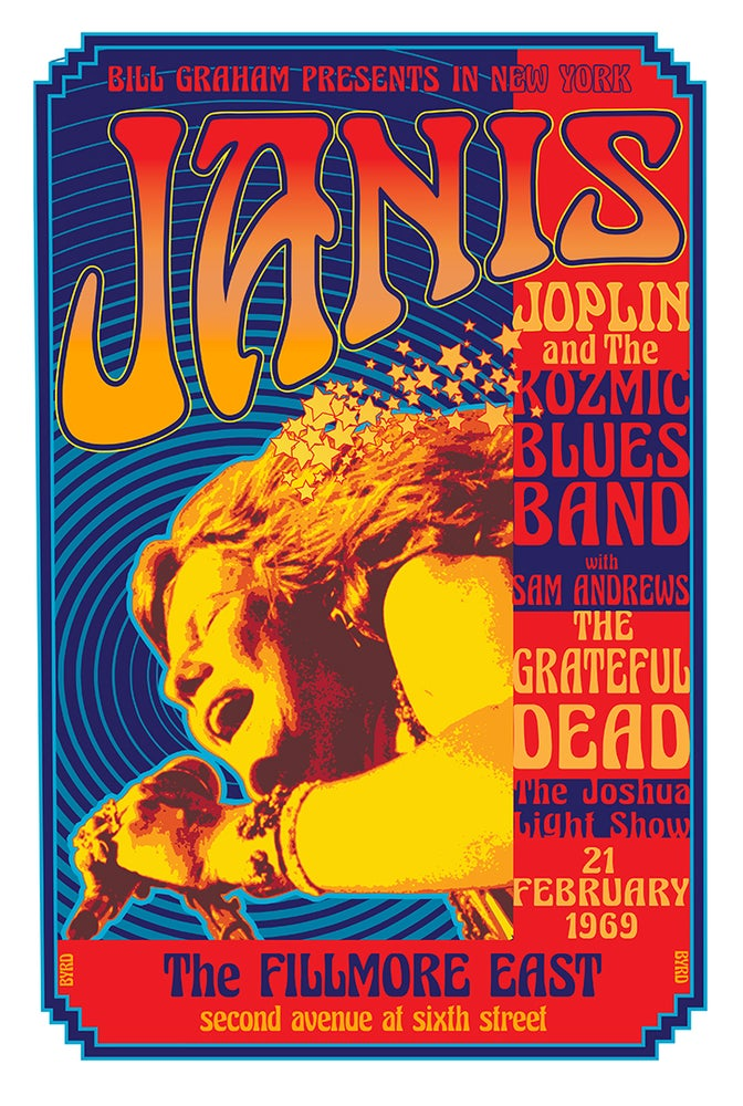Image of JANIS JOPLIN AT THE FILLMORE EAST 1969 w/ KOZMIC BLUES