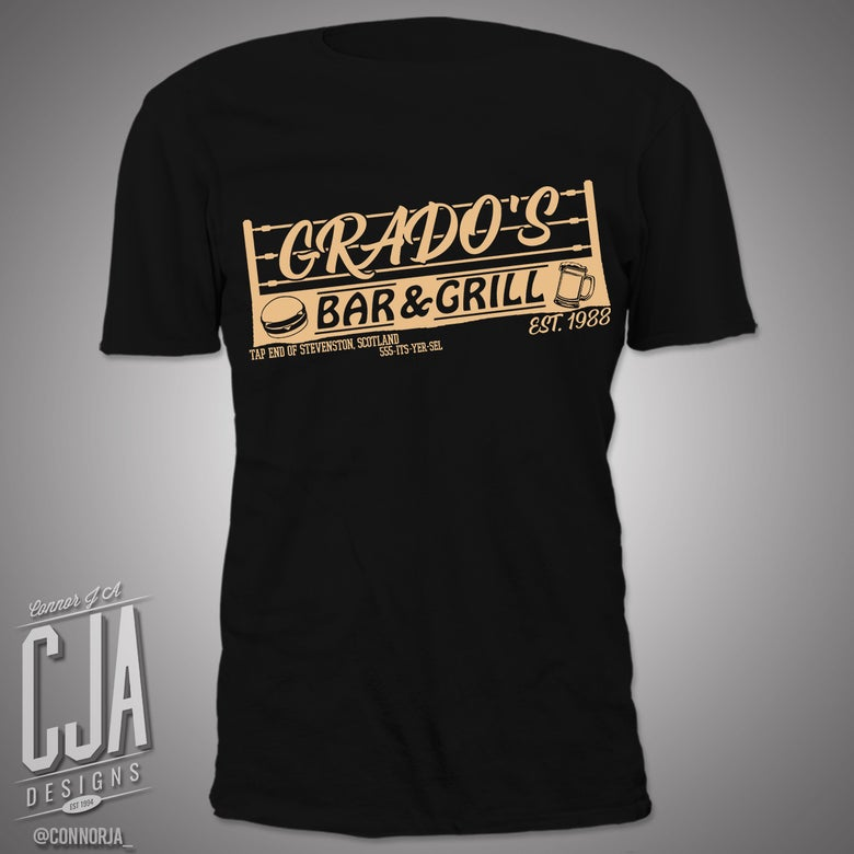 "Image of ""Grado's Bar and Grill"" - Black Shirt"
