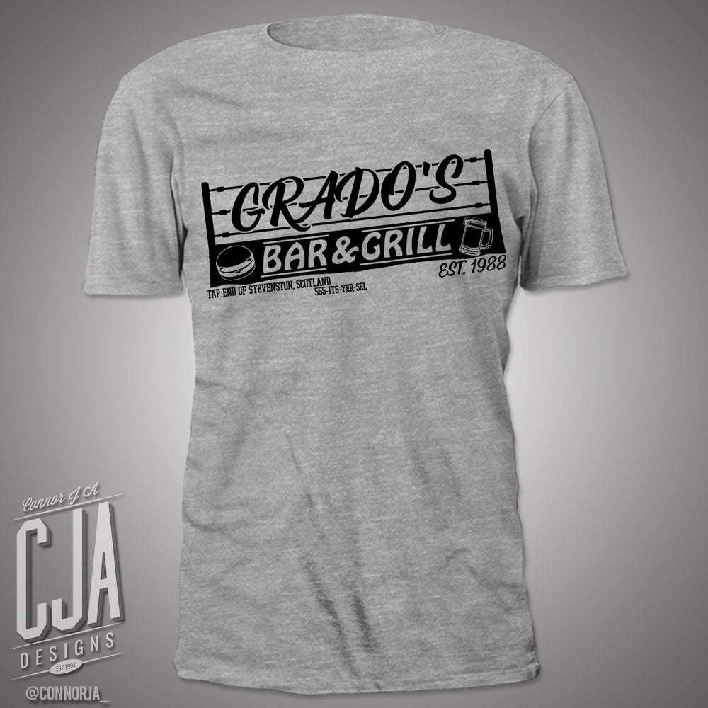 "Image of ""Grado's Bar and Grill"" Grey Shirt"