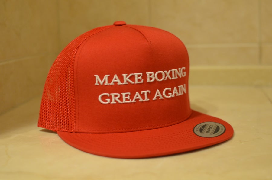 Image of Black with White Mesh BoxingHype Trucker Snapbacks