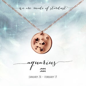 Image of Aquarius Constellation Necklace- 14kt Rose Gold Fill