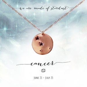 Image of Cancer Constellation Necklace- 14kt Rose Gold Fill