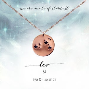 Image of Leo Constellation Necklace- 14kt Rose Gold Fill