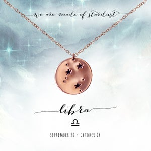 Image of Libra Constellation Necklace- 14kt Rose Gold Fill