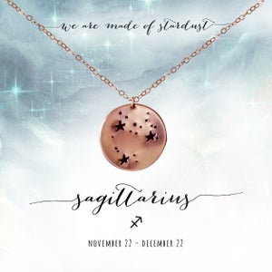 Image of Sagittarius Constellation Necklace- 14kt Rose Gold Fill