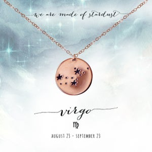 Image of Virgo Constellation Necklace- 14kt Rose Gold Fill