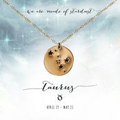 Image of Taurus Constellation Necklace- 14kt Yellow Gold Fill