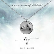 Image of Leo Constellation Necklace - Sterling Silver