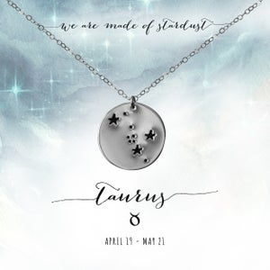 Image of Taurus Constellation Necklace - Sterling Silver