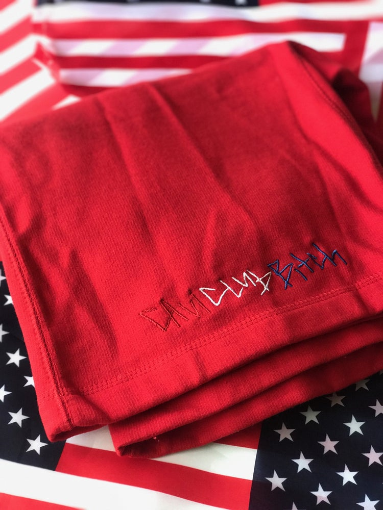 "Image of CAVI ""BLOOD/PEACE/VICTORY"" SHORTS"