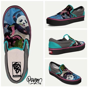 Image of Squidanda VANS by Revilo33: CLASSIC SLIP-ON