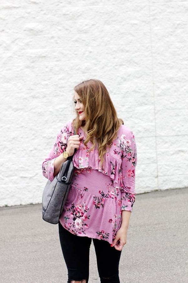 Image of the FLORA blouse PDF pattern