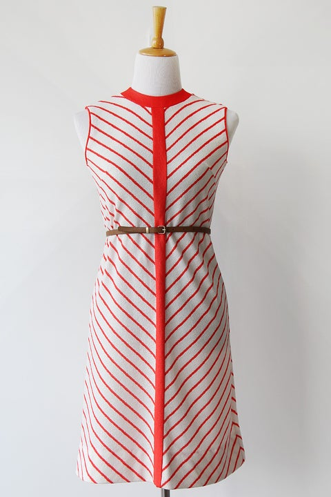 Image of SOLD Mod Chevron Dress