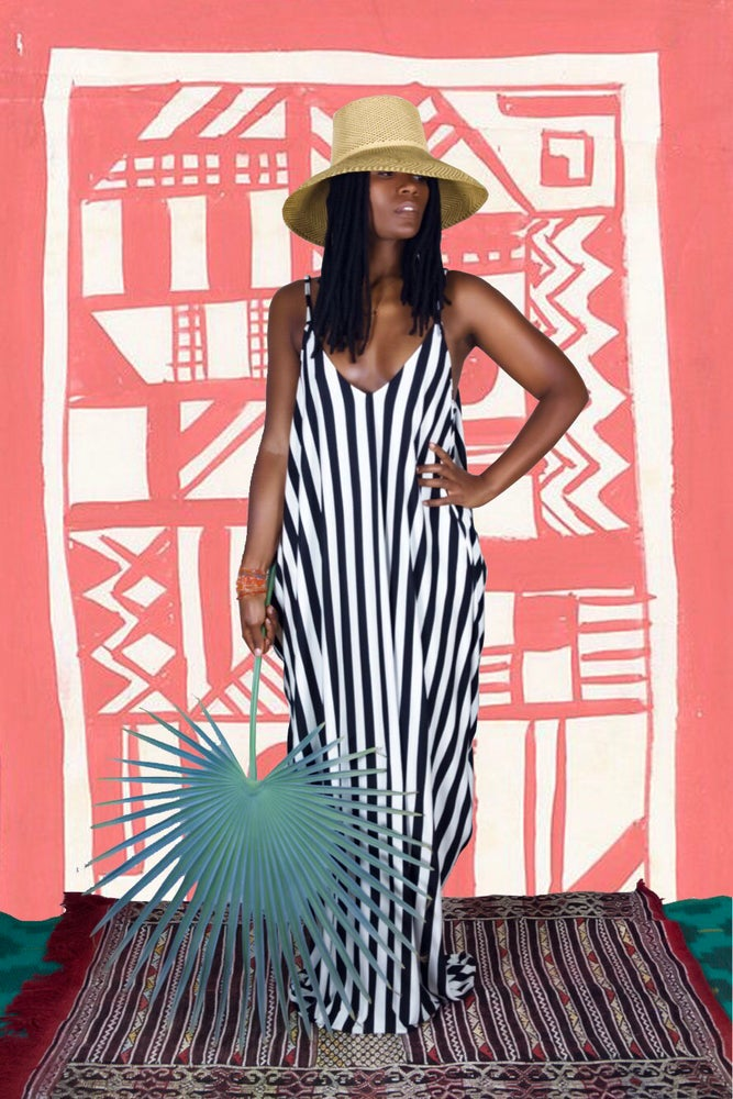 Image of •Fifè• cocoon maxi: striped
