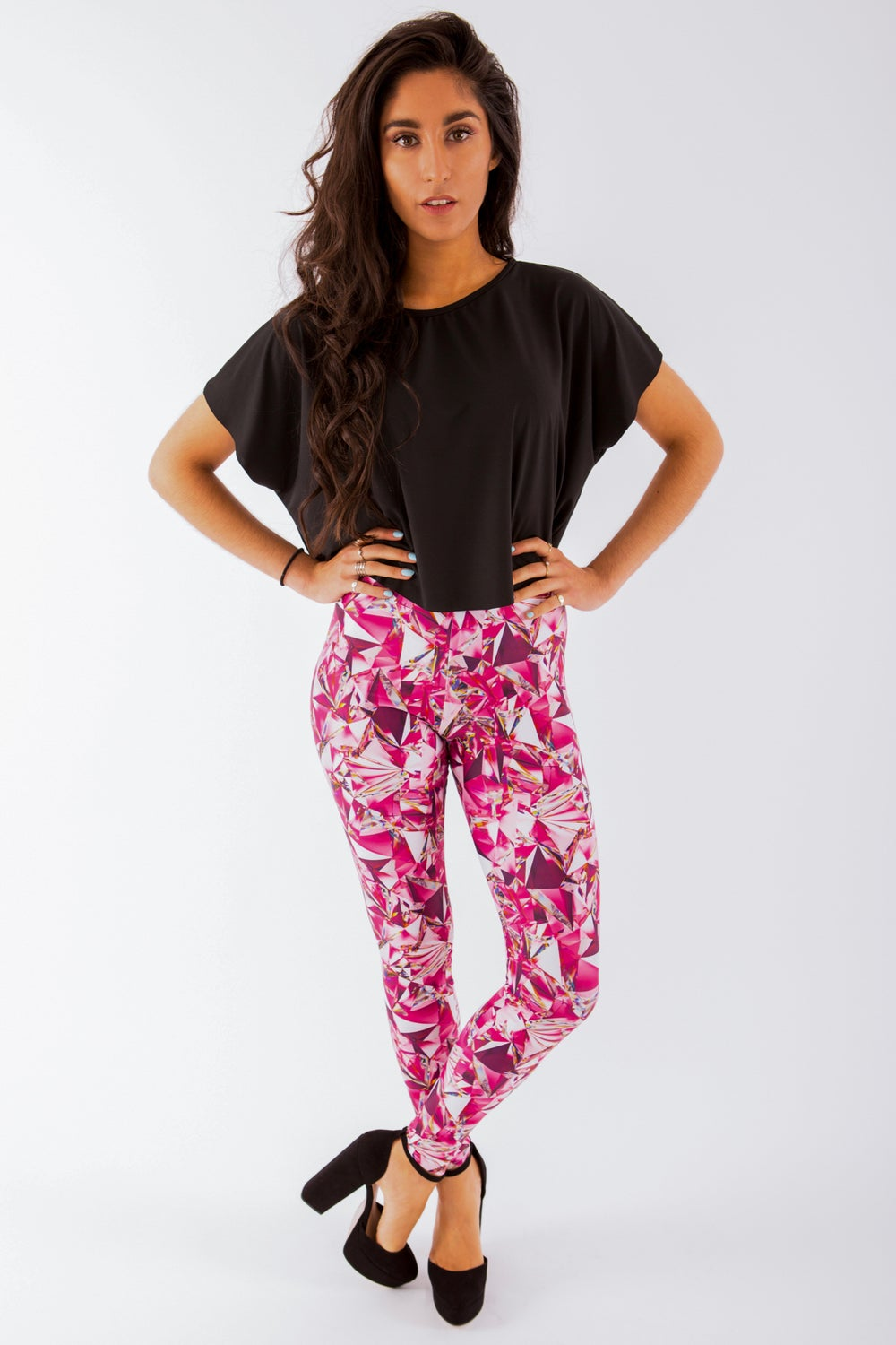 Image of Pink Shattered Glass Leggings