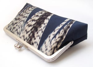 Image of Feather stripe clutch purse