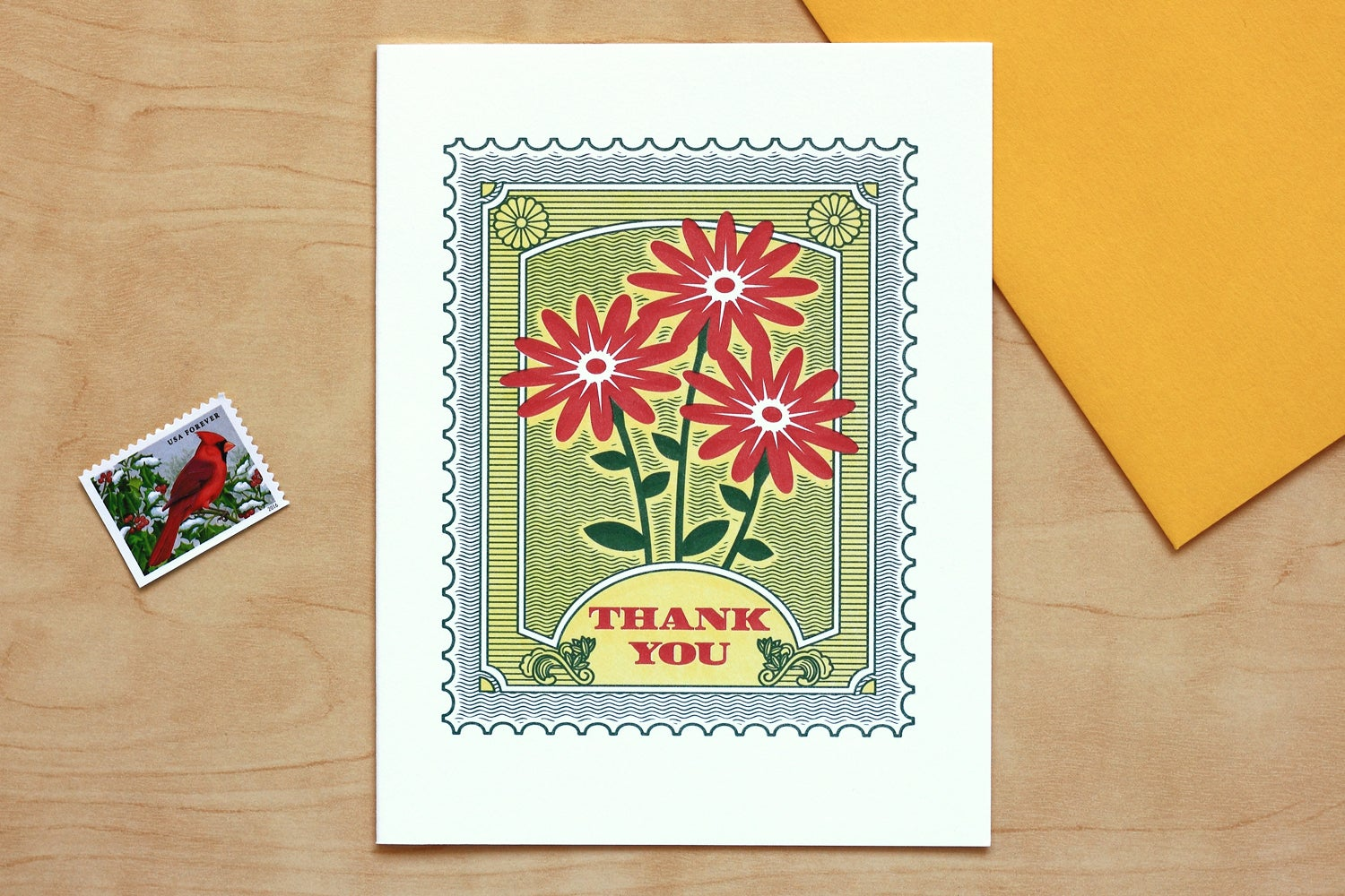 "Image of ""THANK YOU"" STAMP Card"