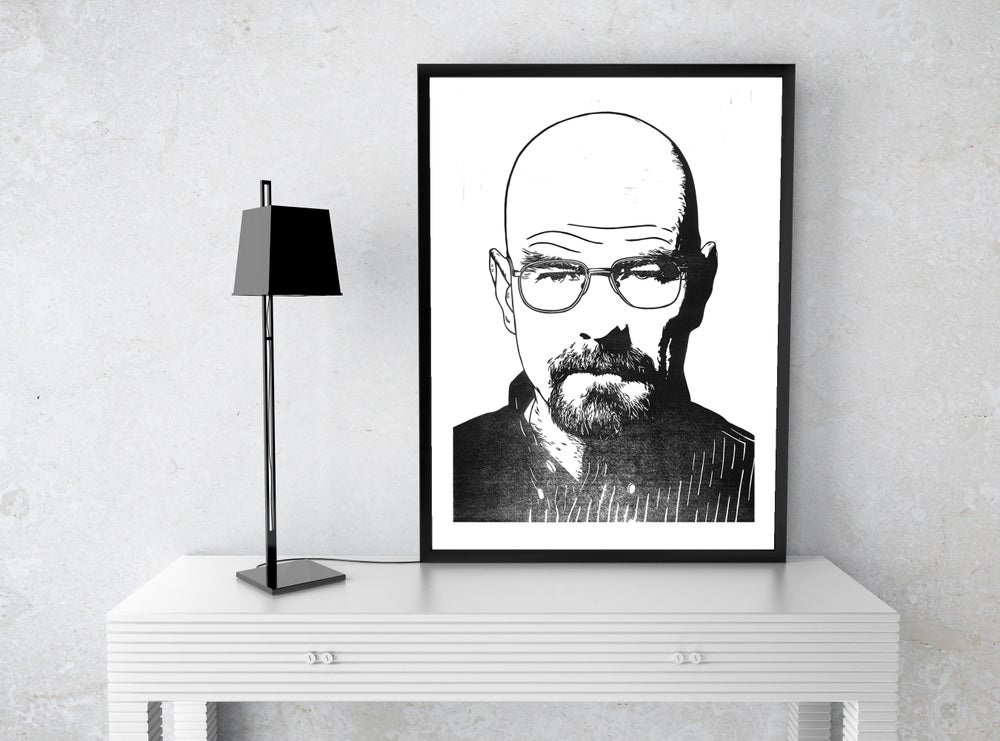 Image of Heisenberg A3 Risograph Print