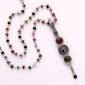 Image of Tourmaline chain with vintage object