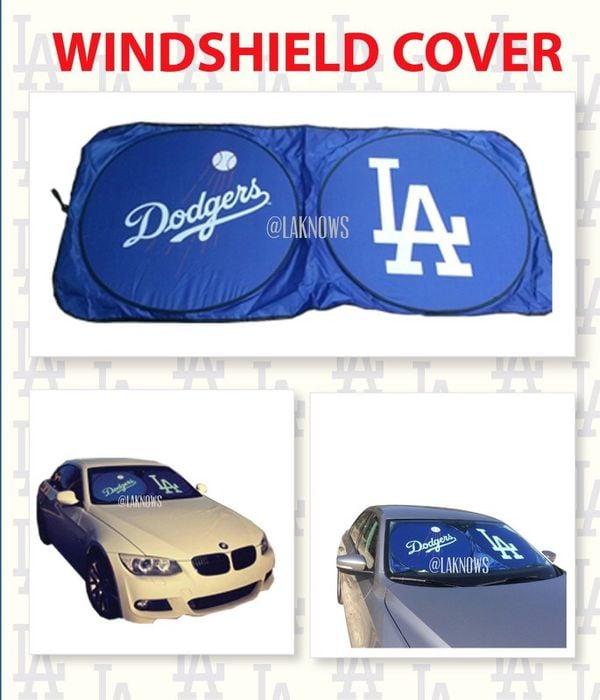 Image of Dodgers Blue Car Windshield Sun Shade Visor 32c240d8ed7