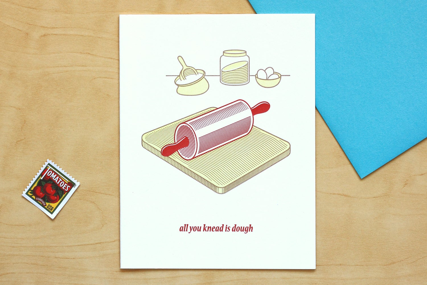 "Image of ""ALL YOU KNEAD IS DOUGH"" Card"