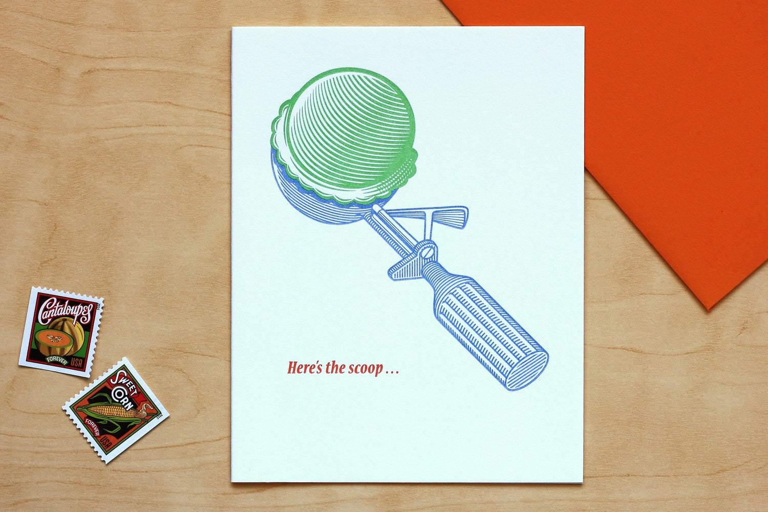 "Image of ""HERE'S THE SCOOP"" Card"