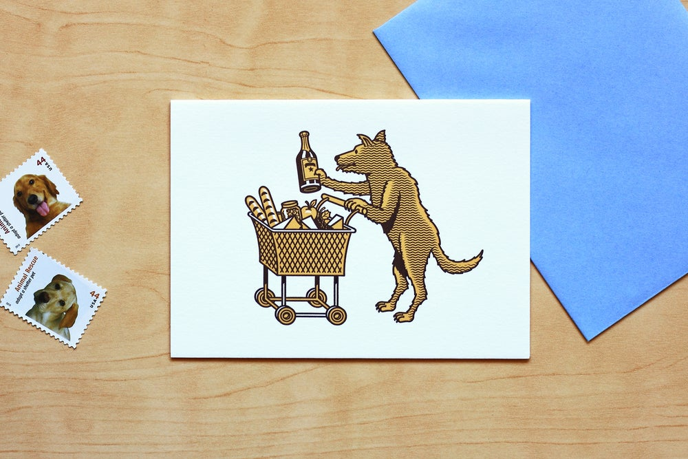 Image of SHOPPING DOG Card