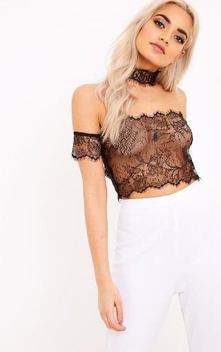Image of RiRi Lace Crop Top & Choker