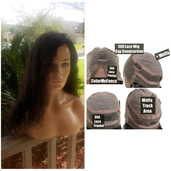 Image of NeW! 360 Lace Wig /Frontal w Sewn Track Hair