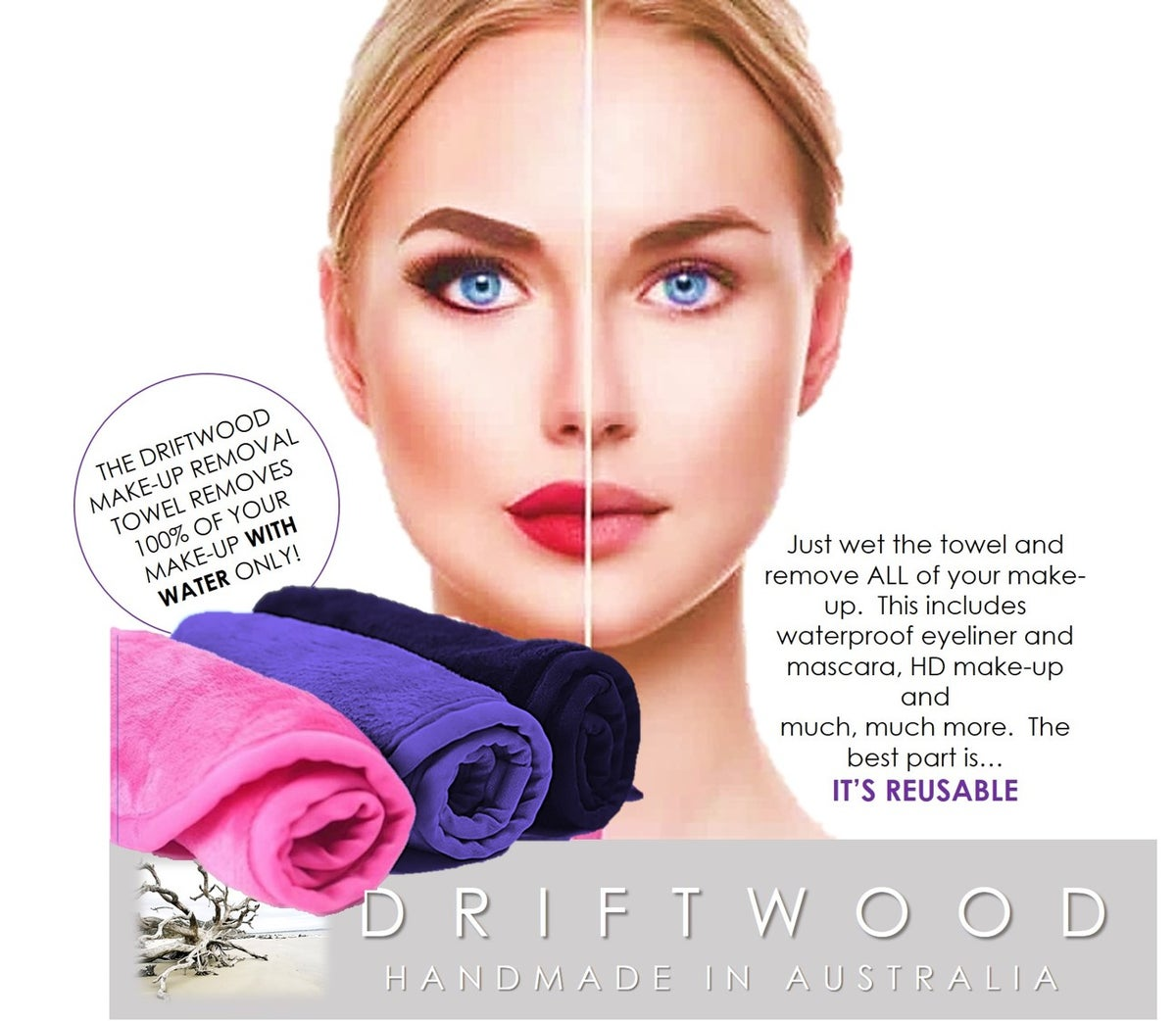 Driftwood Make-Up Removal Towel