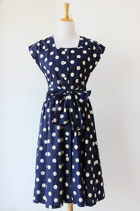 Image of SOLD Dots Two Ways Dress
