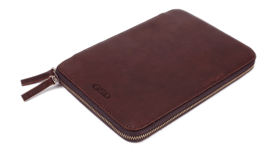 Image of Personalized Initials Leather Travel Wallet, Passport Holder - Groomsmen Gift B17