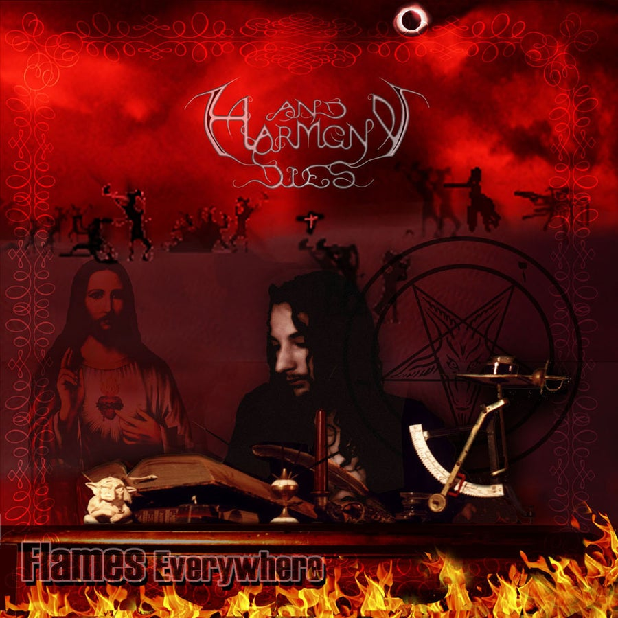 "Image of AND HARMONY DIES ""Flames Everywhere"" CD"