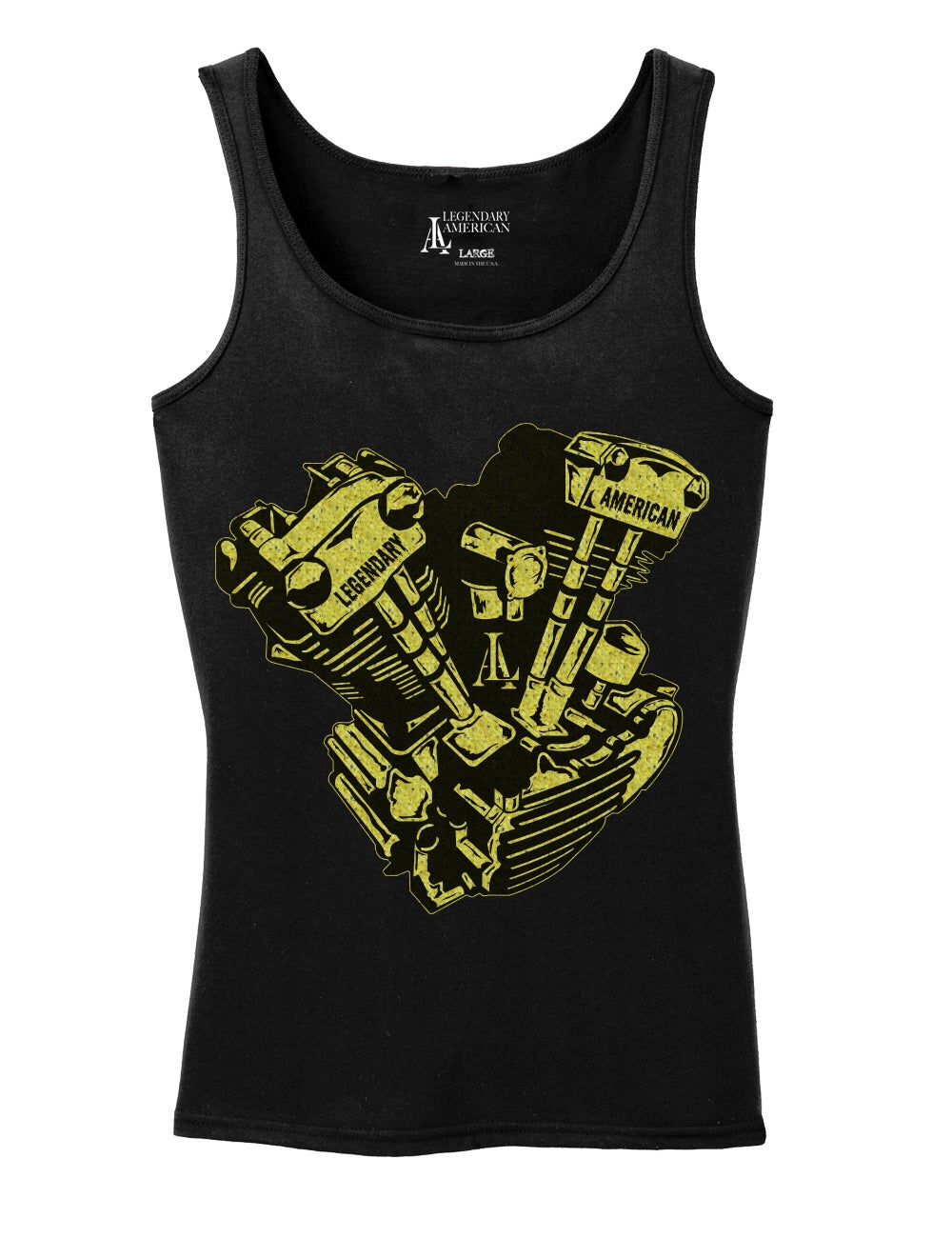 Image of Legendary American Womens Knucklehead tank top - gold print