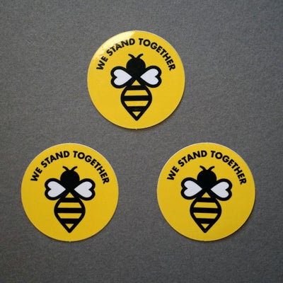 Image of Manchester #WeStandTogether Bee Vinyl Stickers