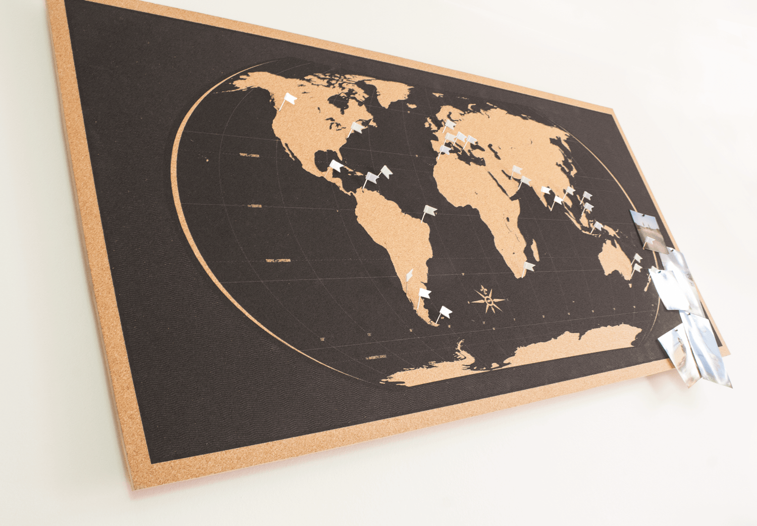 Image of Skinny Black World Map