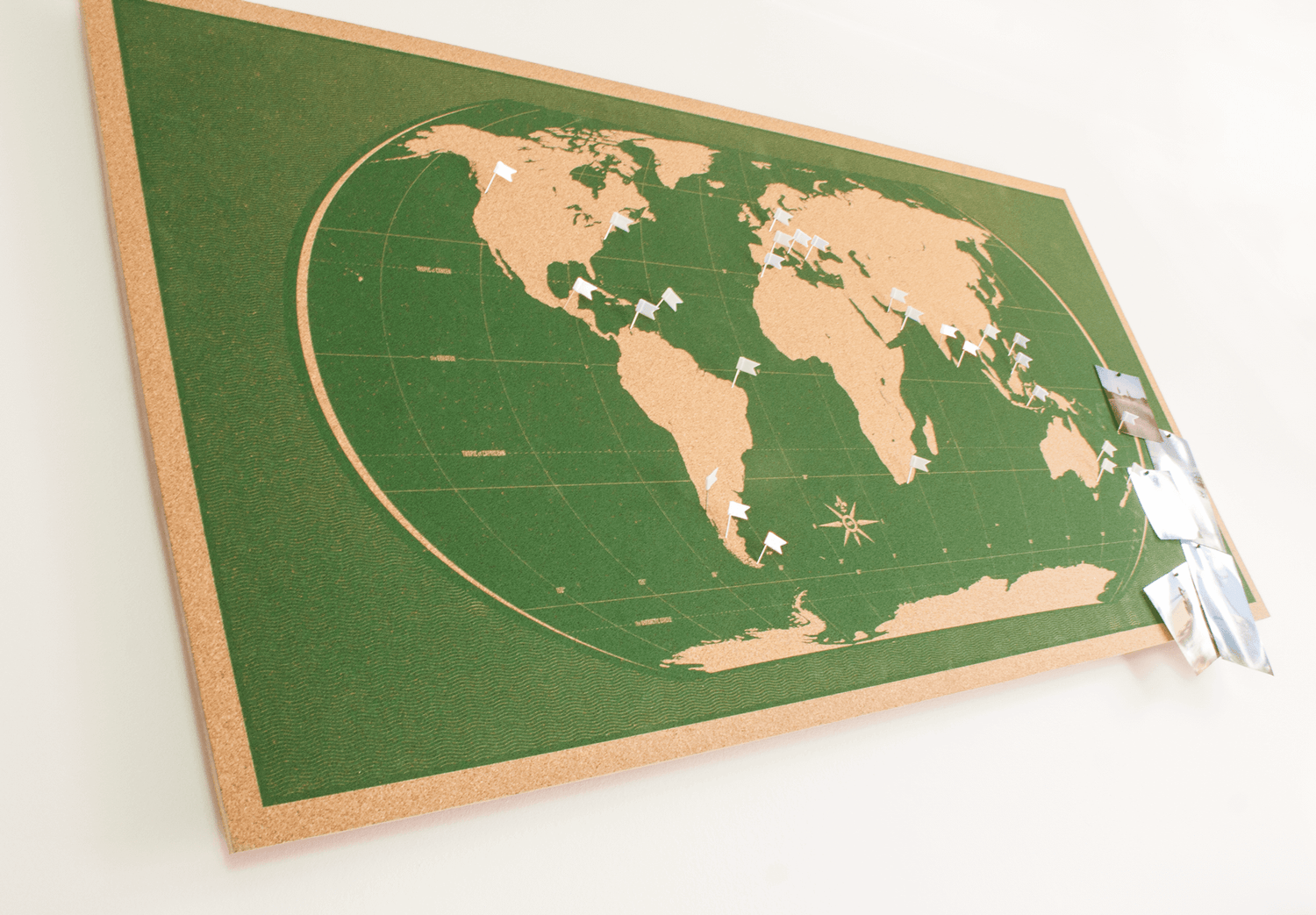 Image of Skinny Green World Map
