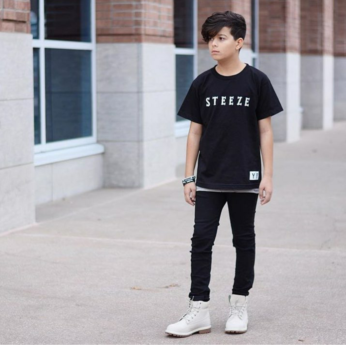 Image of BOYS BLACK SKINNY JEANS
