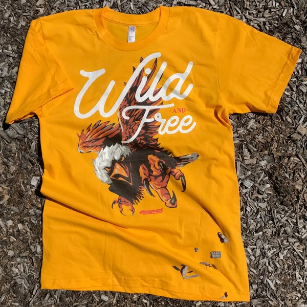 "Image of The ""Wild-and-Free"" Eagle Tee in Gold"
